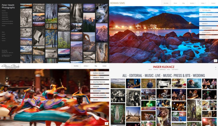 photoshelter free vs paid photography portfolio websites