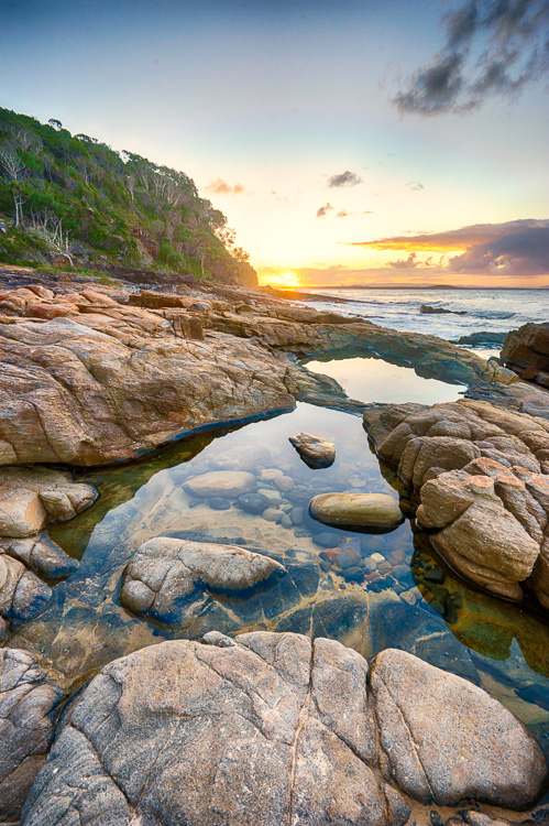 sunset reflection in rock pools - 12 Good Reasons Why You Should Start a Photography Blog