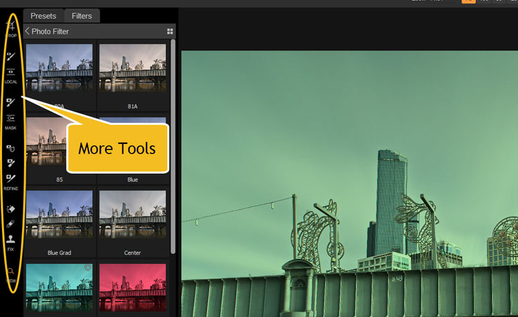 Image: When you go to the Effects Mode you get a lot more tools to start using. Many come with masks...