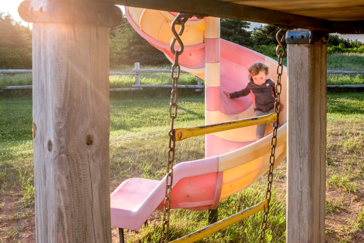 Slide at the playground. How to Photograph Your Family Vacation