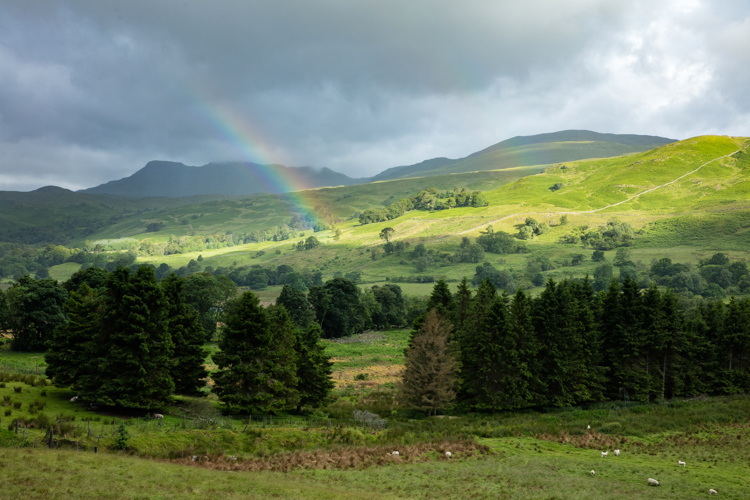green field with a rainbow - 5 Landscape Photography Mistakes That Keep Your Images From Standing Out
