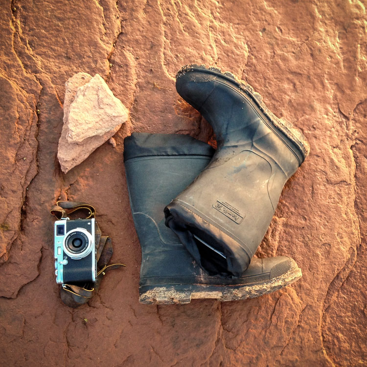 Just a camera and rubber boots. - How to Photograph Your Family Vacation