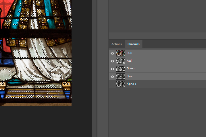 Channels selections, Alpha channel, Photoshop CC