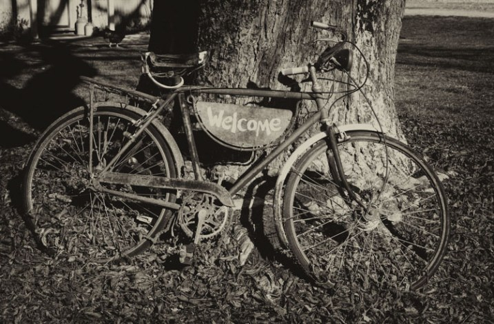 b/w of a bike - 9 Ways to Create Balance in Your Photography