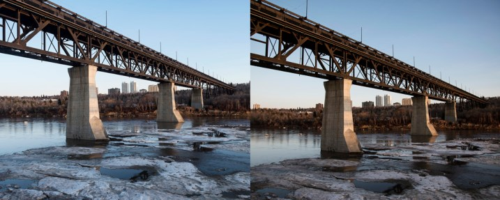 Making Sense of Lens Optics for Crop Sensor Cameras - two photos of a bridge