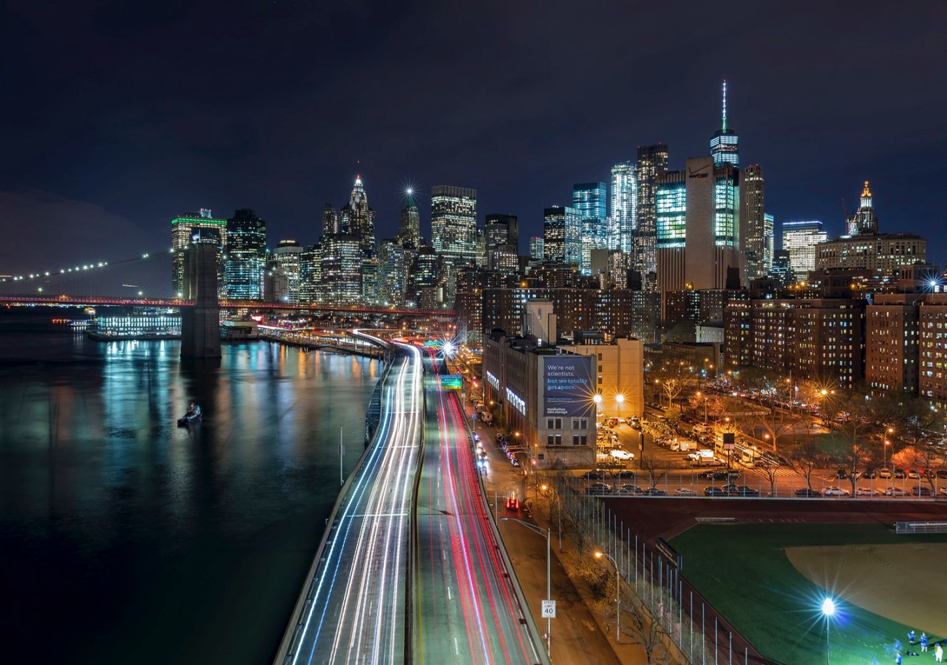 Downtown from Manhattan Bridge - dPS Ultimate Guide to Night Photography