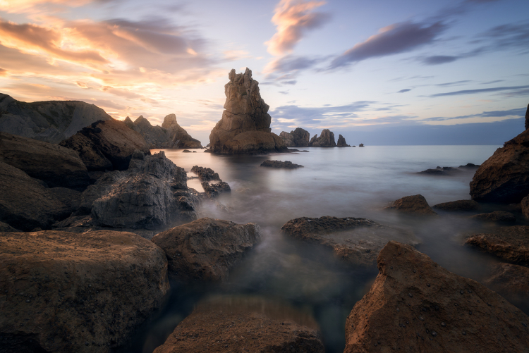 seascape scene - Working with Different Shutter Speeds for Landscape Photography