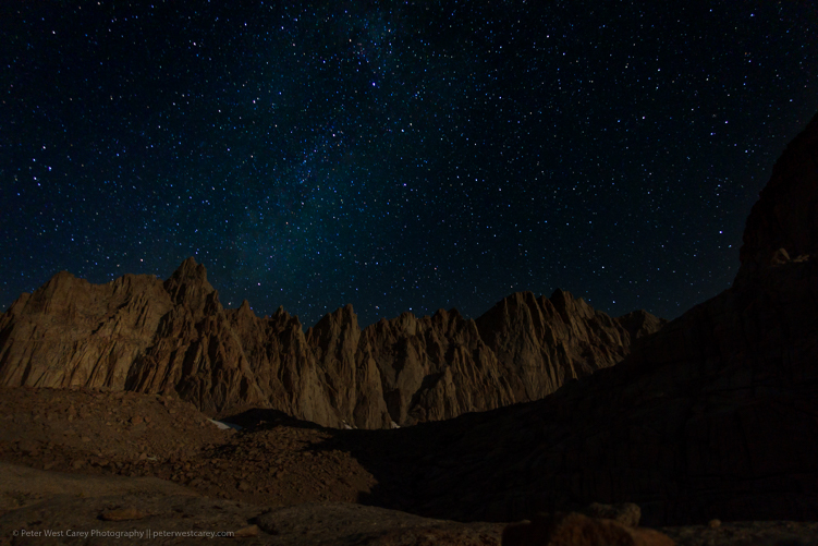 Image: Mt. Whitney and The Milky Way – California, USA ISO 1000, f/2.2, 25 seconds.