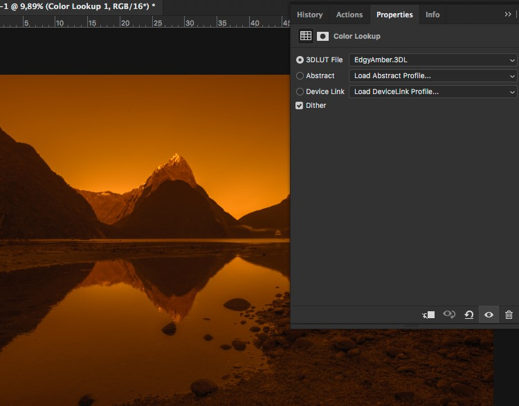 See the result of EdgyAmber - How to Create Your Own Style by Using LUTs in Photoshop