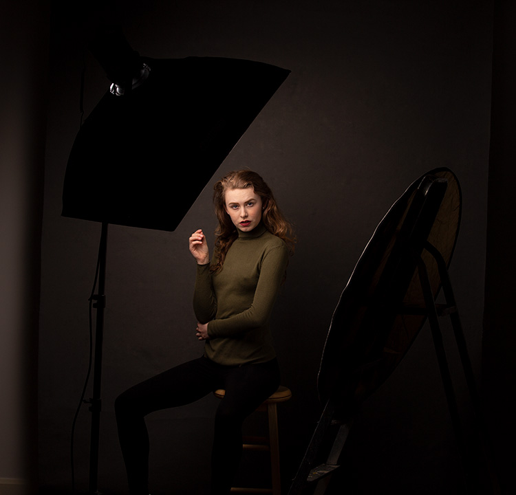 The Power of Shooting Simply with One Light and a Reflector- lighting setup