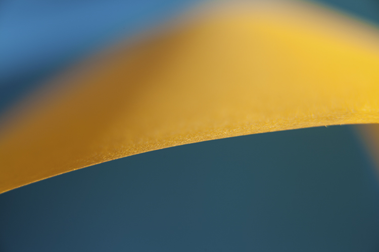 blue and yellow abstract - Creating Abstract Photos with Colored Paper