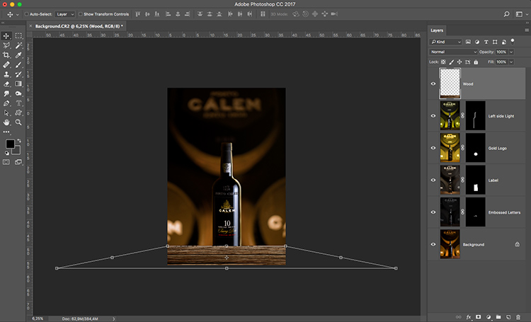 Photograph wine bottle composite 10