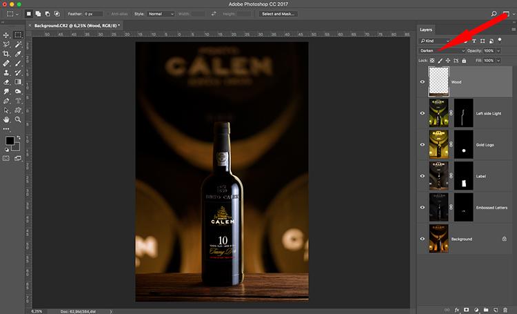 Photograph wine bottle composite 11
