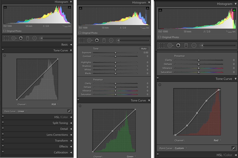Color Adjustments in Lightroom Tone Curve Adjustments