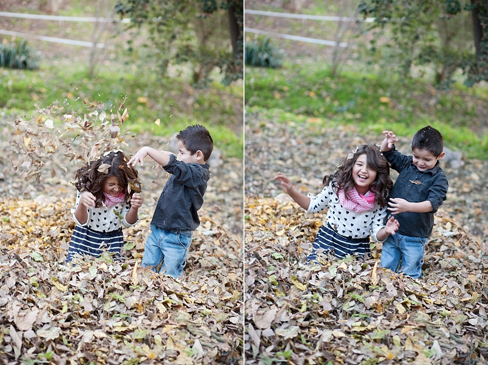 playing in the leaves - How to Survive Portrait Sessions with Difficult Children