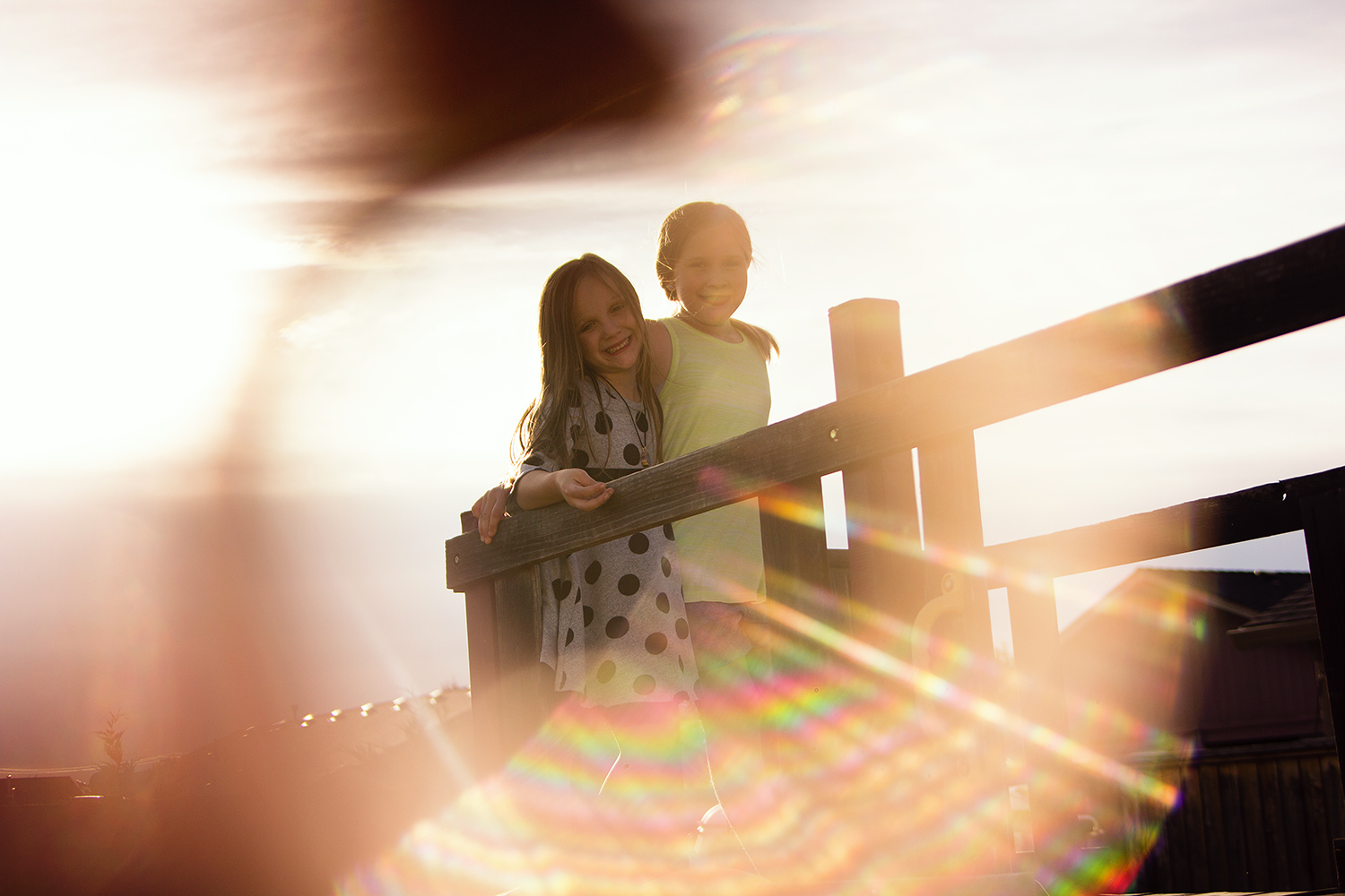 3 Creative Techniques for People Photography - copper pipe flare two kids photo