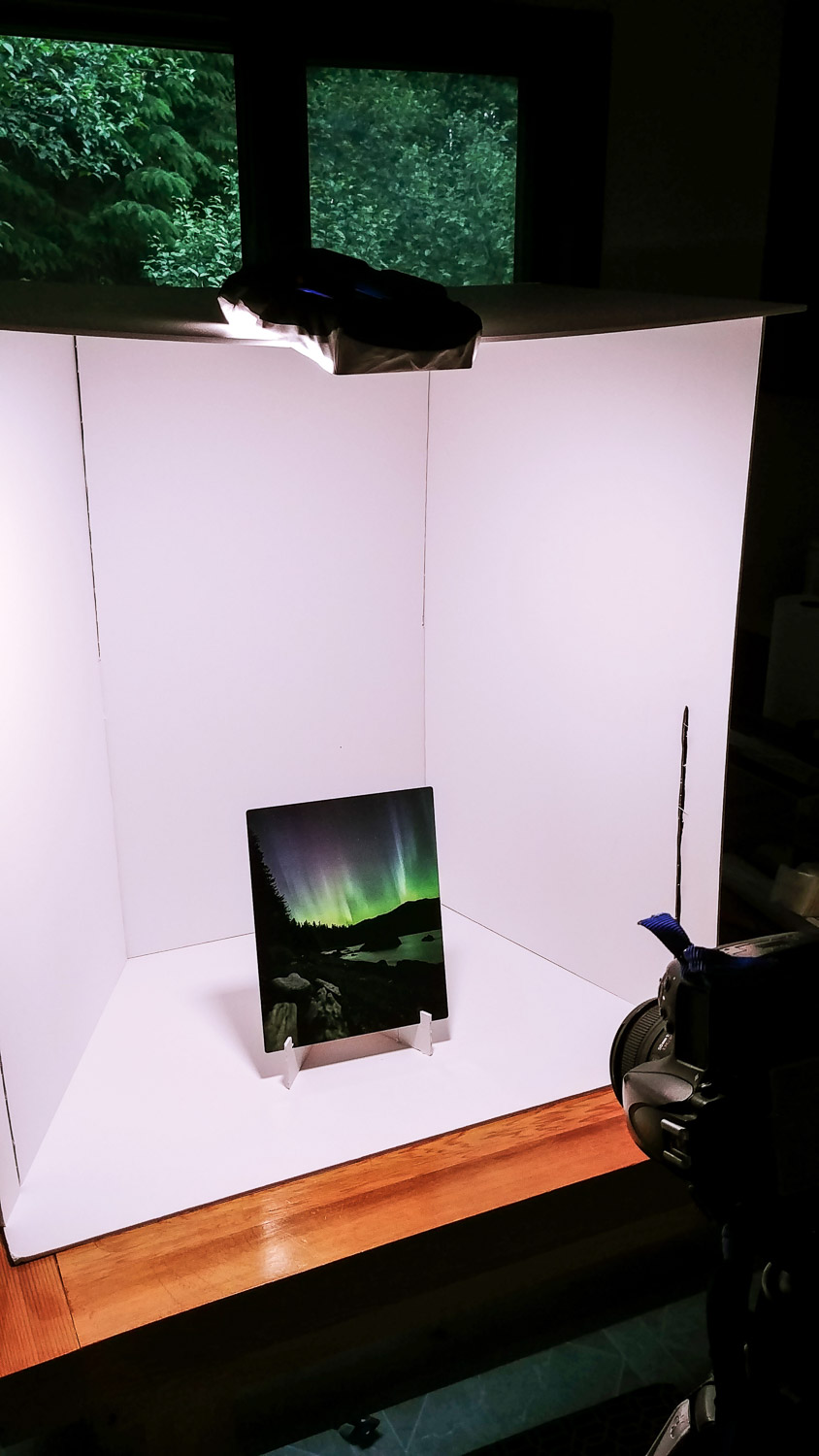 Tips for Photographing Artwork for Marketing Purposes - DIY lightbox in use