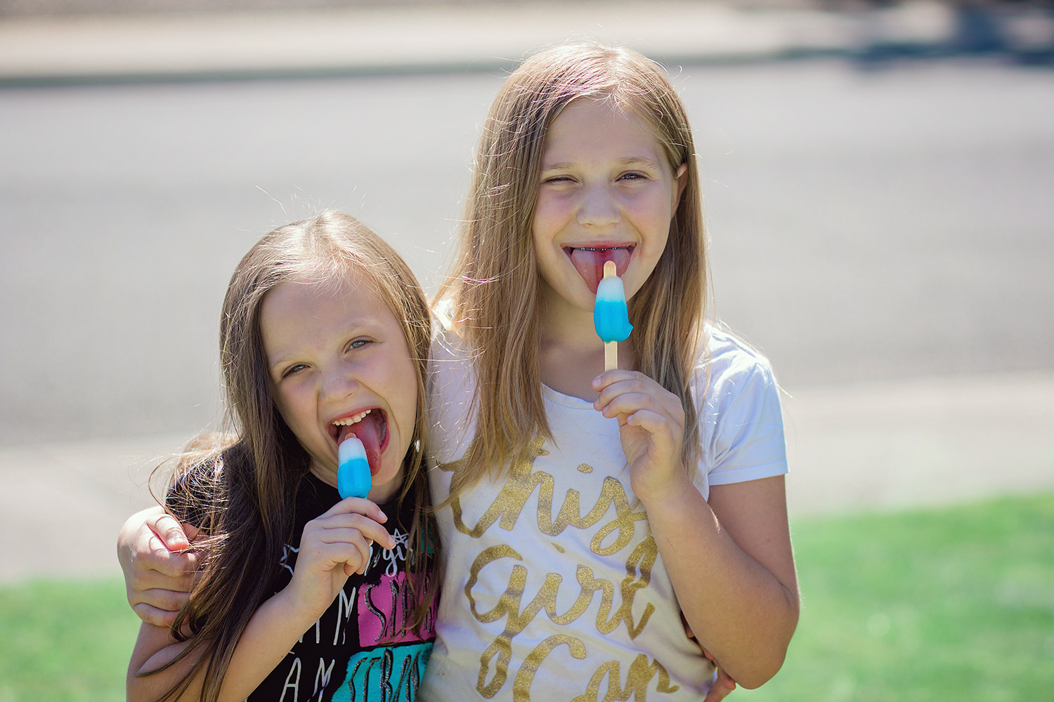 kids eating popsicles - 3 Tips For Photographing Kids in Harsh Light