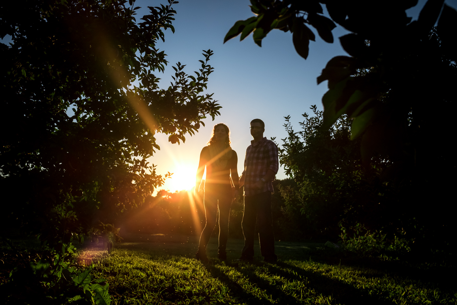 Sunburst during golden hour - Fun Ways to Photograph Couples That are a Bit Awkward