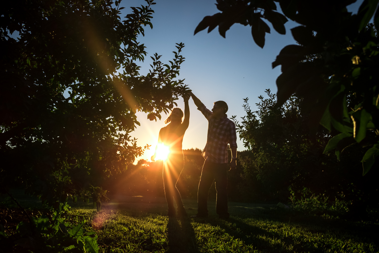 A couple dancing during golden hour. Fun Ways to Photograph Couples That are a Bit Awkward