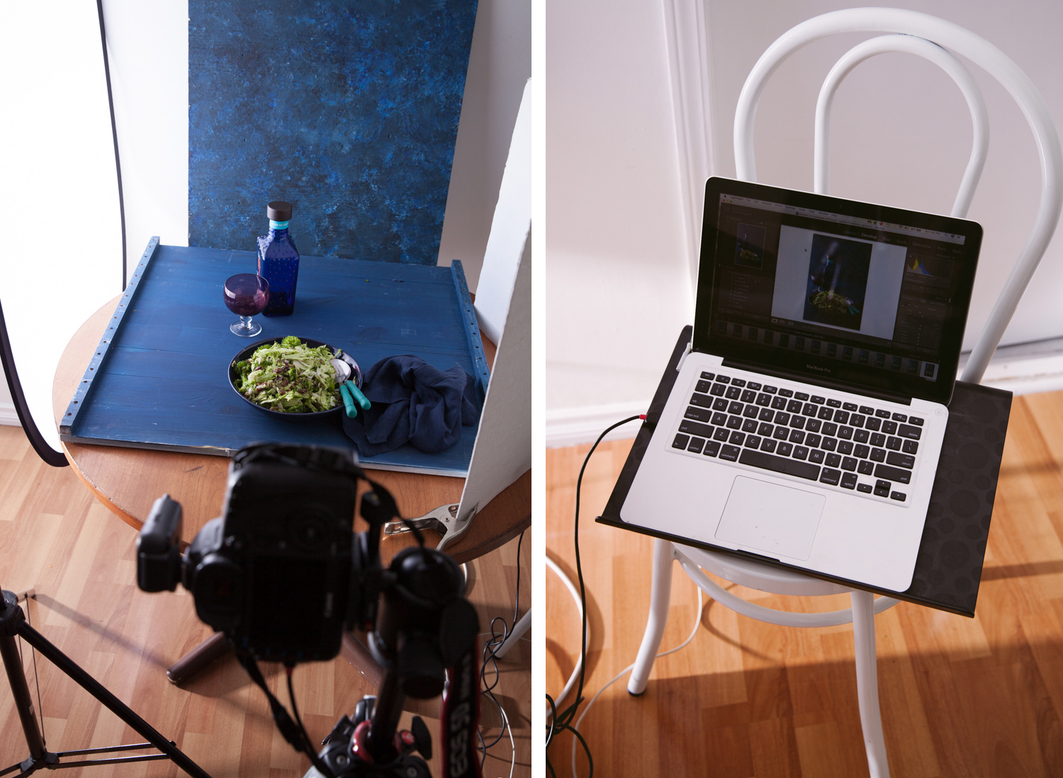 Image: Shooting tethered setup. You get to see the image on the computer screen shortly after you sh...