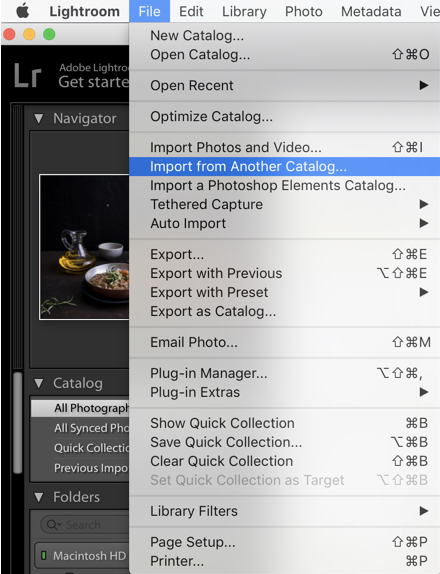 Import from Another Catalog - How to Merge Multiple Lightroom Catalogs Into One
