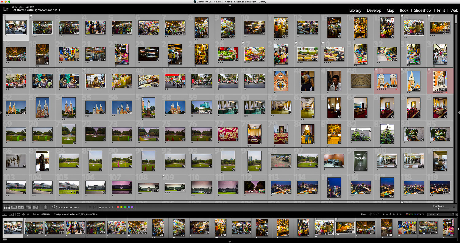 Lightroom browser of images - Documentary Photos