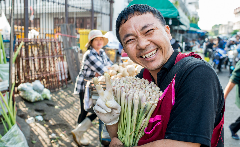 Chaing Mai Fresh Market Vendor - composition