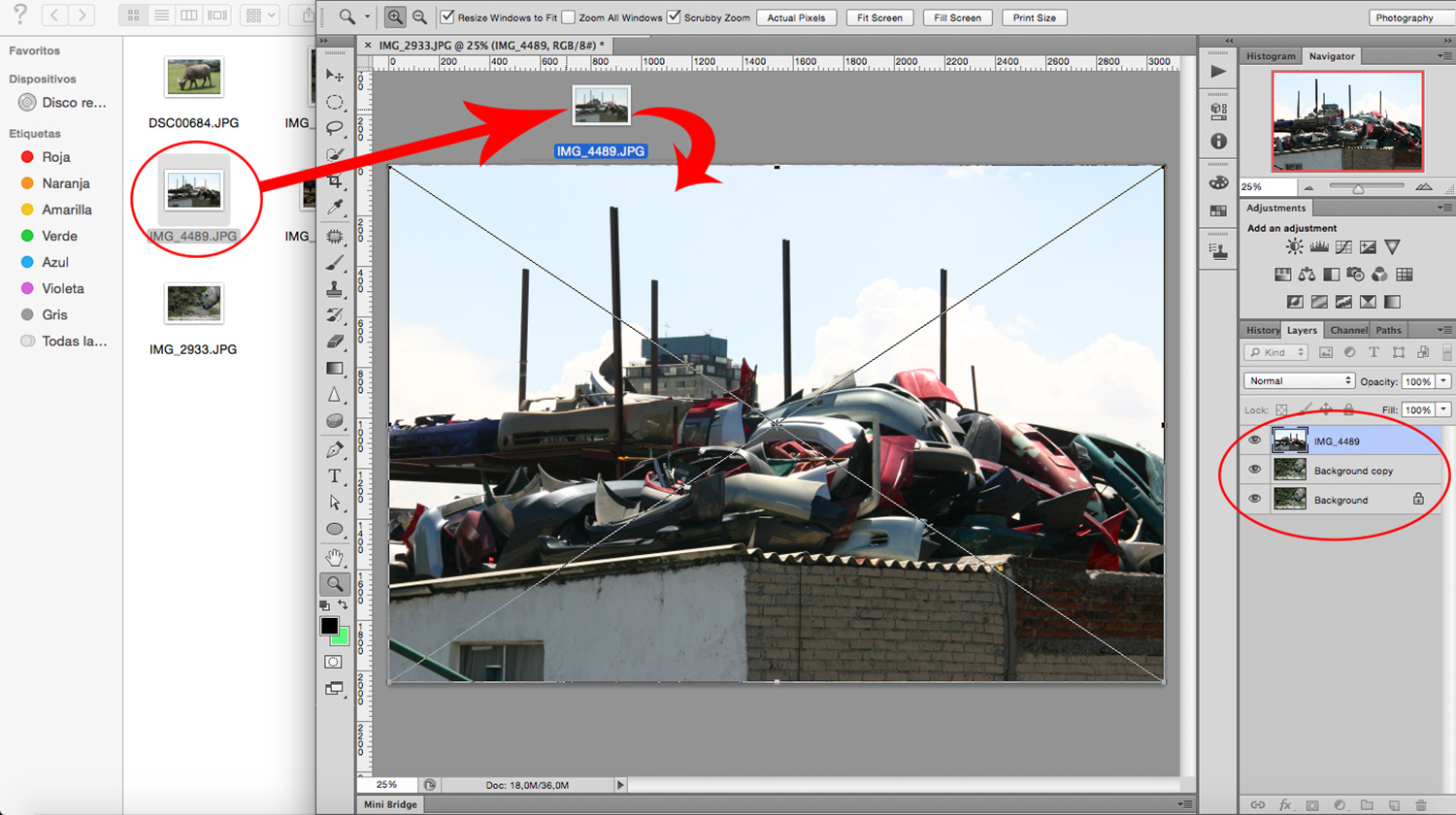 drag and drop second image - How to Create a Multiple Exposure Effect in Photoshop