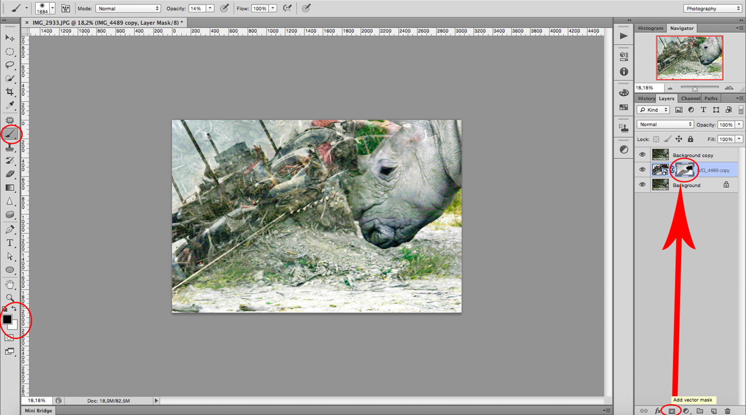 layer mask - How to Create a Multiple Exposure Effect in Photoshop