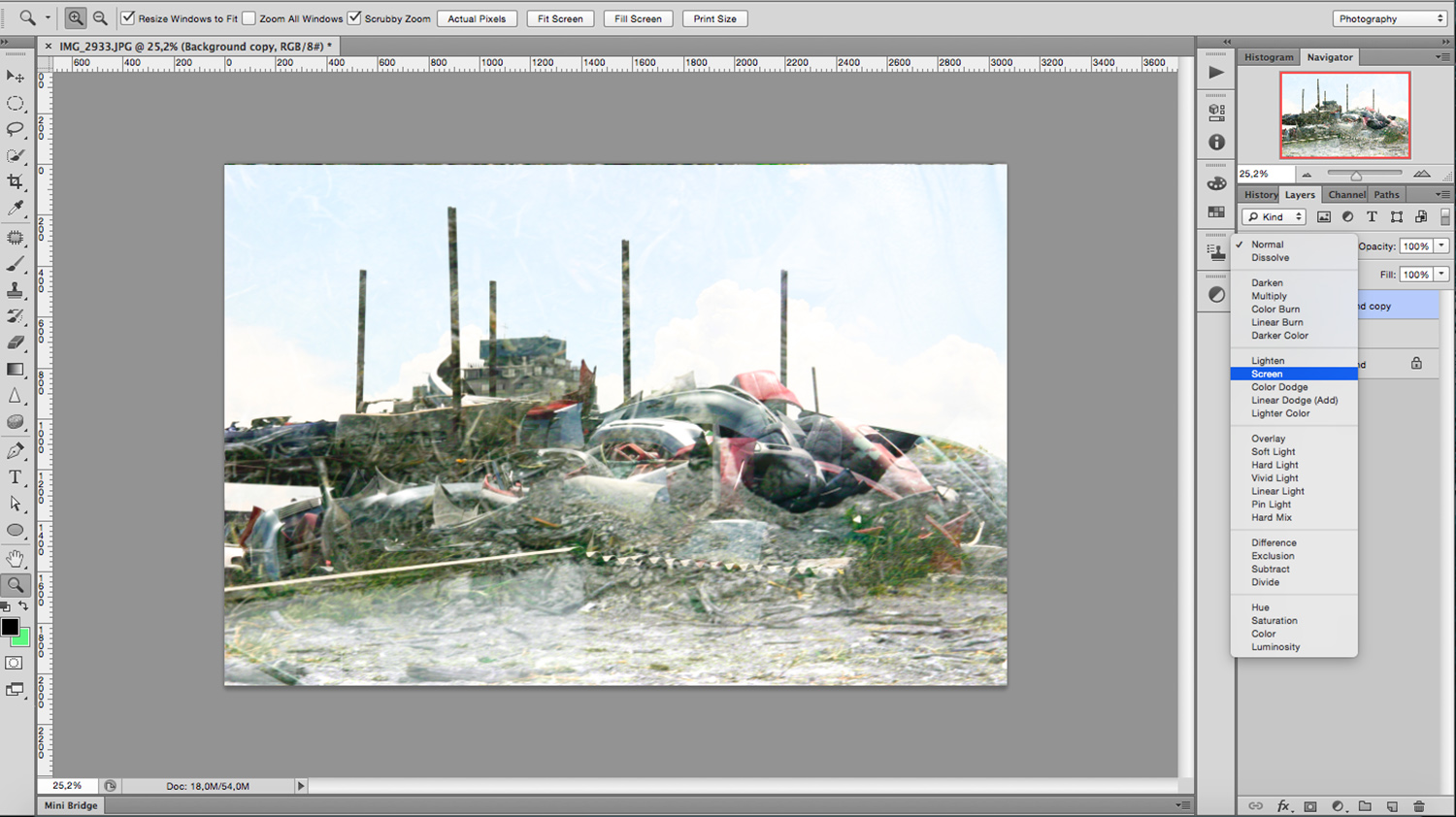 screen mode - How to Create a Multiple Exposure Effect in Photoshop