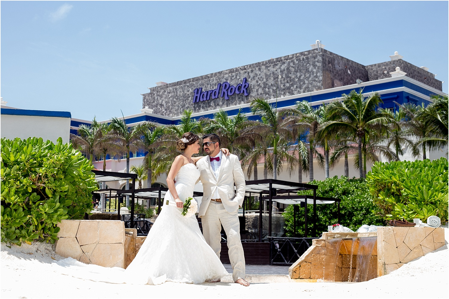 couple by Hard Rock cafe - Tips for Better Bridal Portraits