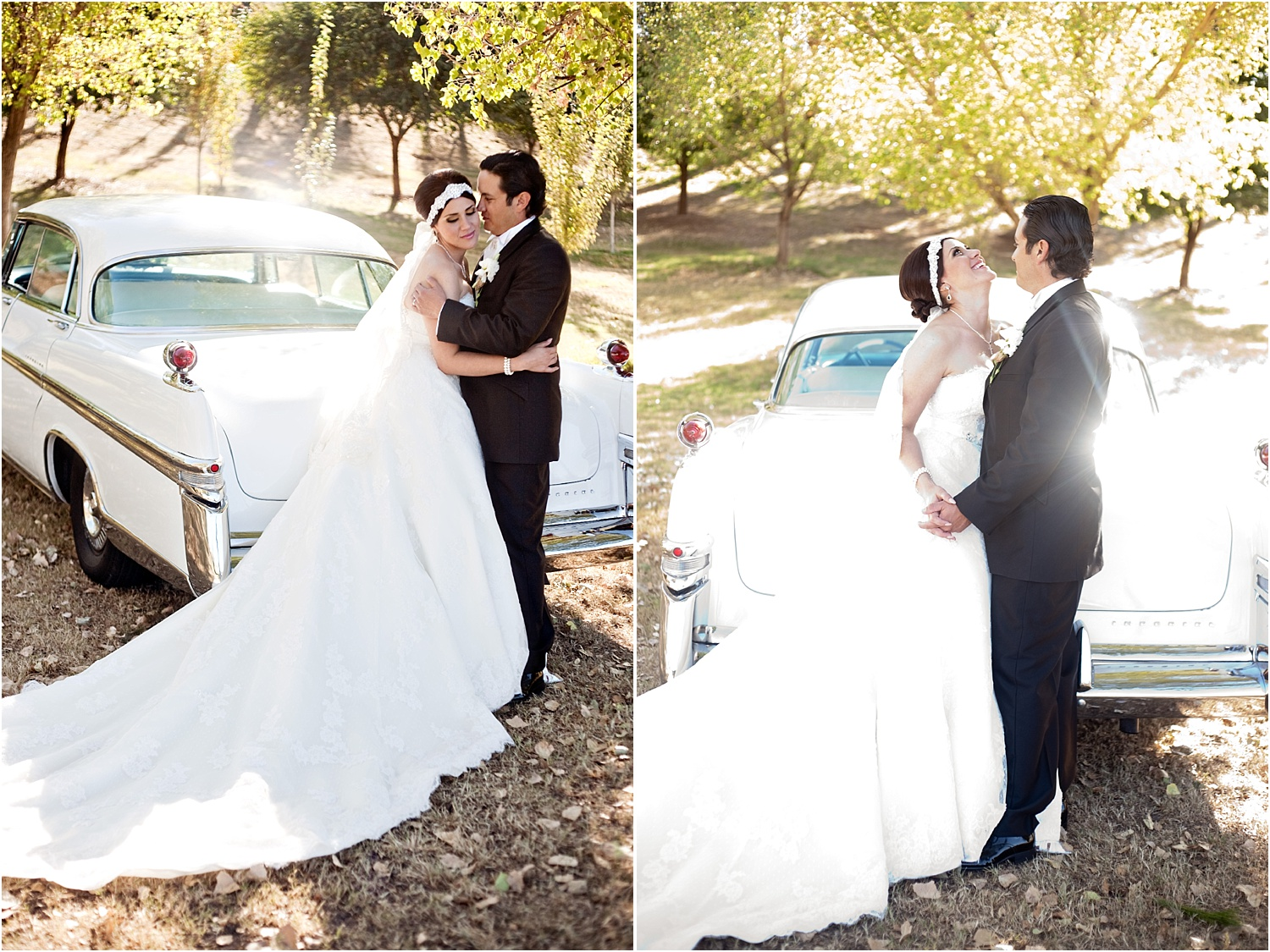 couple with antique classic car - Tips for Better Bridal Portraits