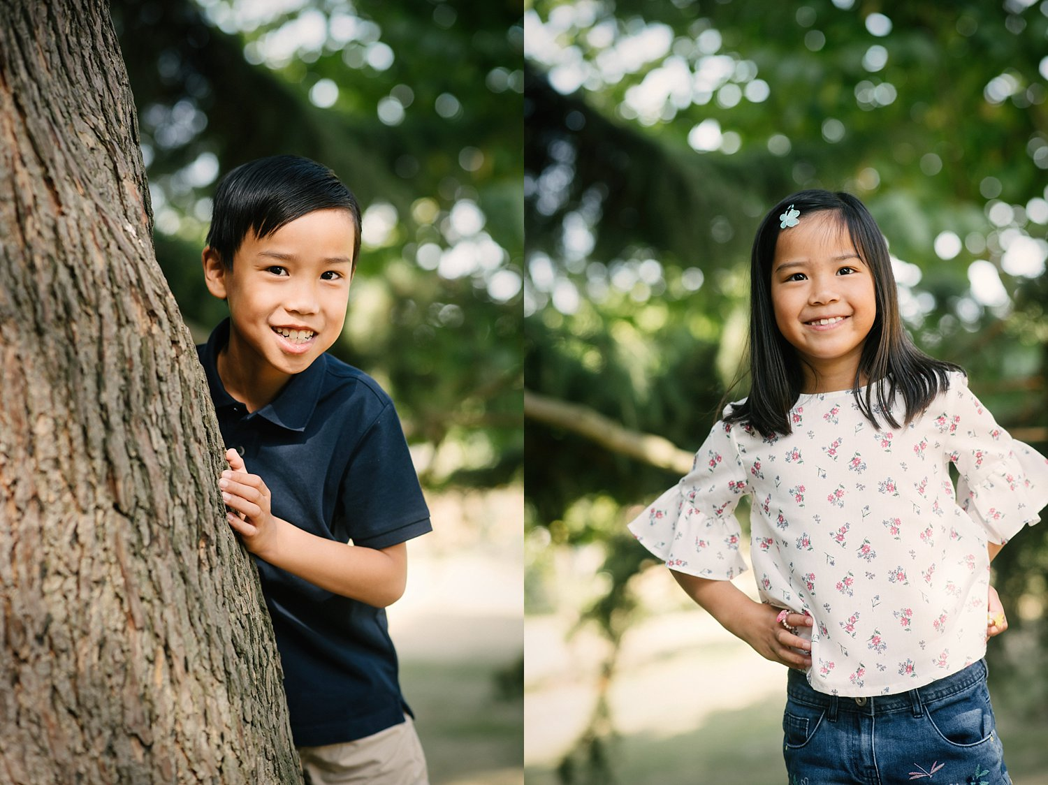 6 Types of Portrait Backgrounds You Can Use for Your Images - kids photos by trees
