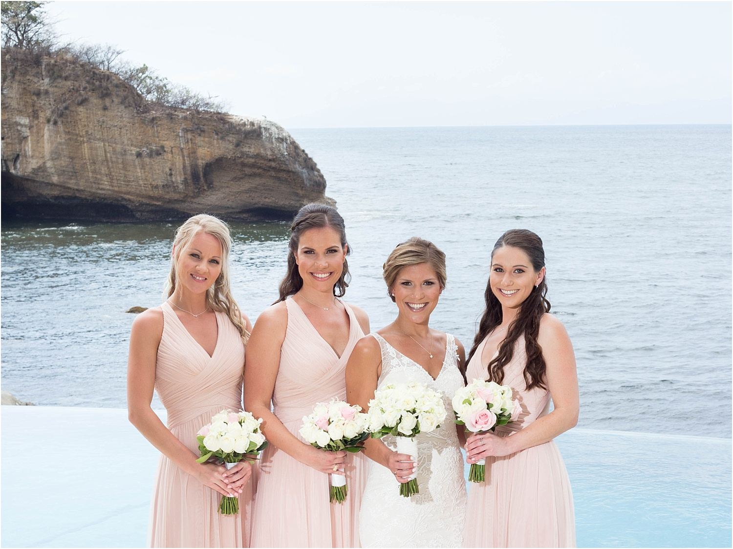 bridal party photo of the ladies - Using Flash for Beach Portraits