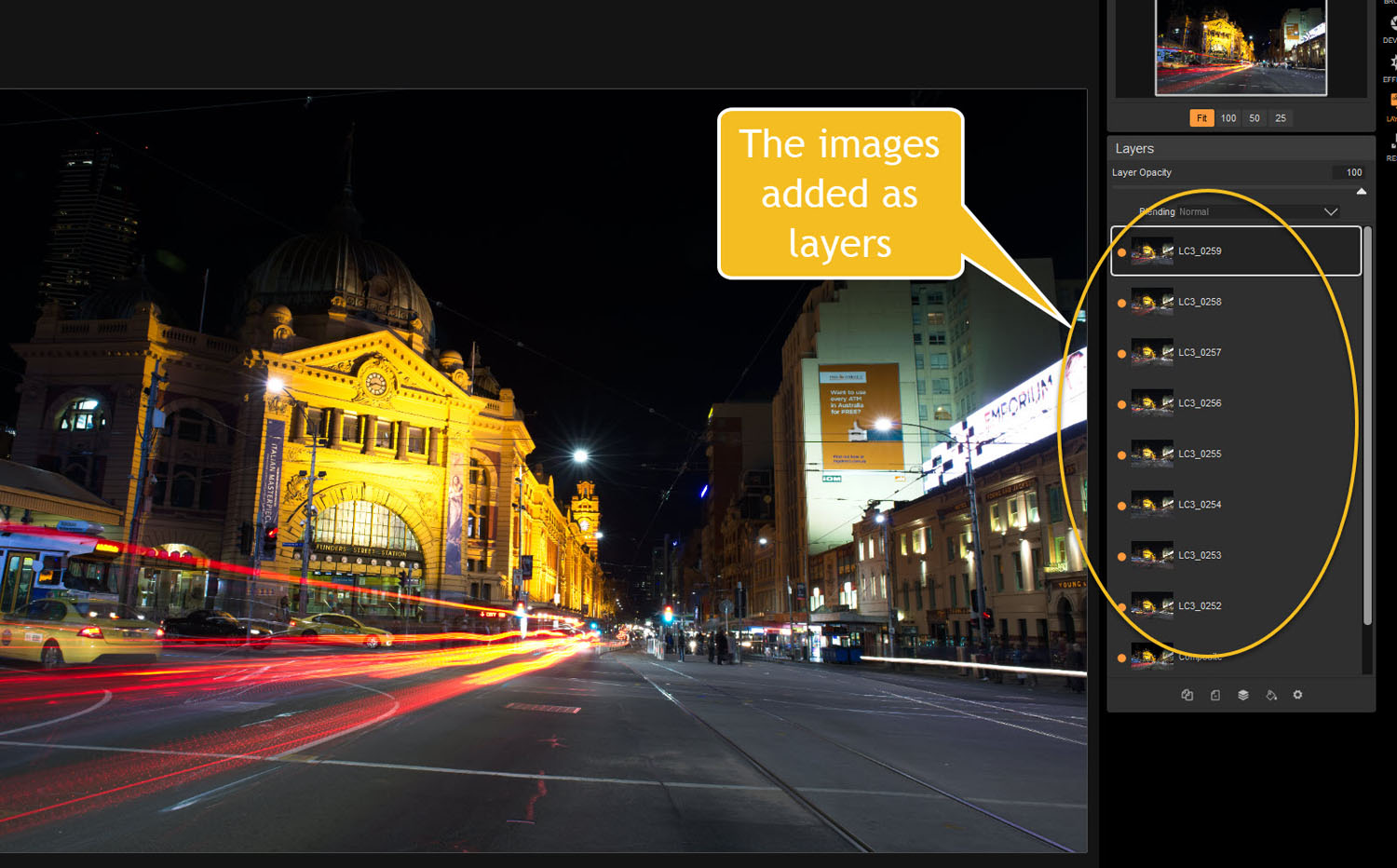 images added as layers - Tips for Processing Night Photography with ON1 Photo RAW 2018