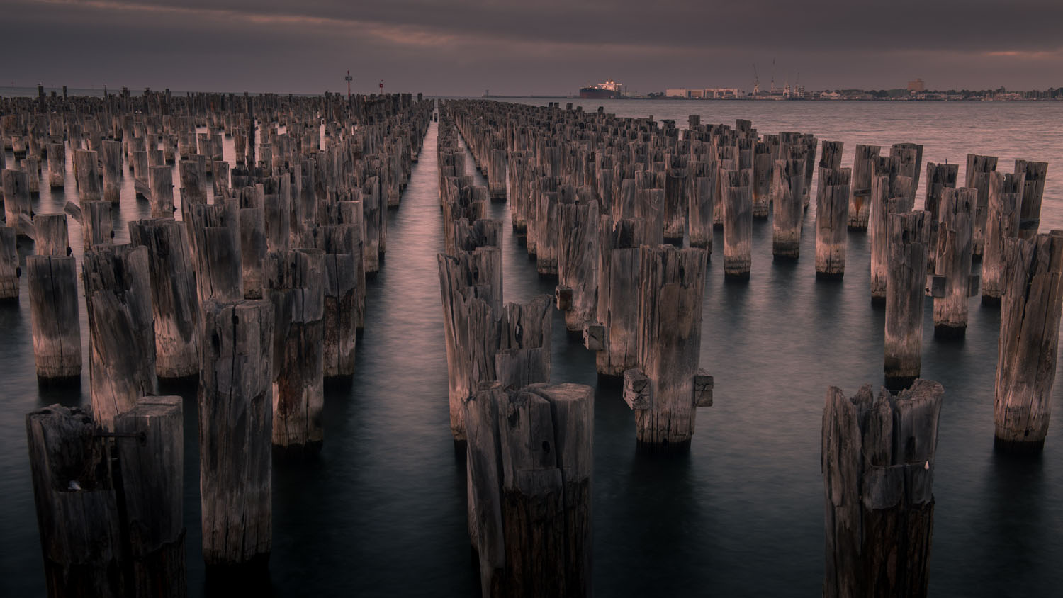 time-lapse still Princes Pier