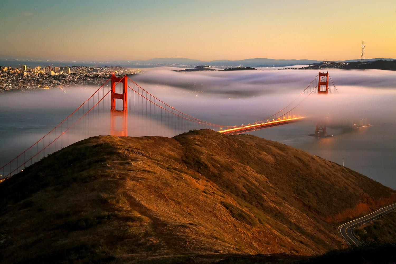 4 Tips for Photographing Fog - Golden Gate bridge in the fog