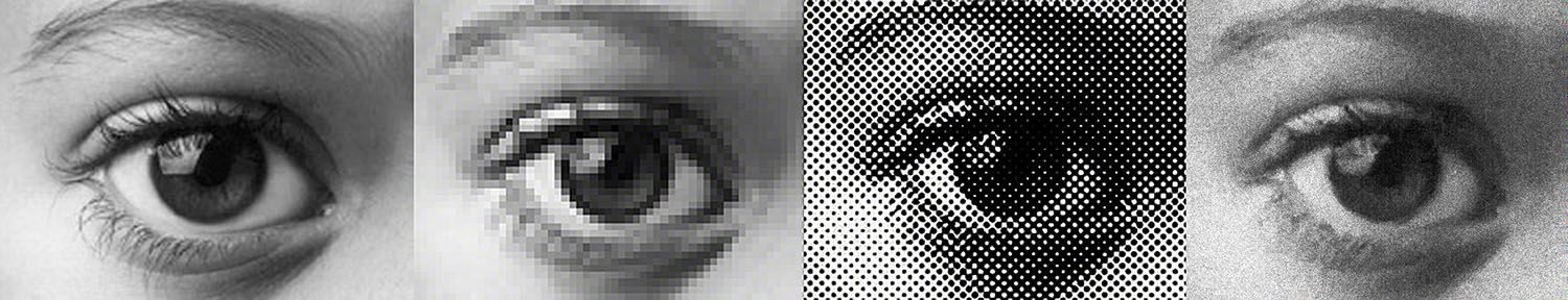 Illusion of Photography Pixel Dots Spots