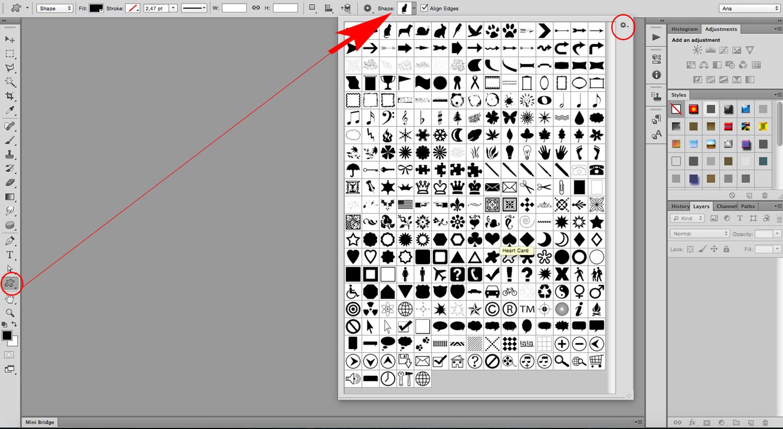 Image-filled shapes Photoshop tutorial Custom Shape