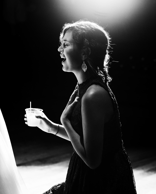 mirrorless cameras - black and white wedding candid photo