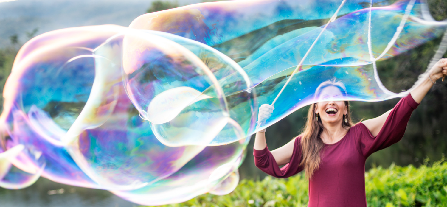 Woman making Giant Soap Bubbles -  7 Steps to Find Inspiration so You Can Create Phenomenal Photographs