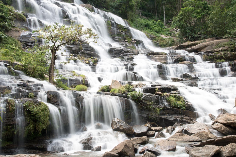 Waterfall photo made using a slow shutter speed©Kevin Landwer-Johan
