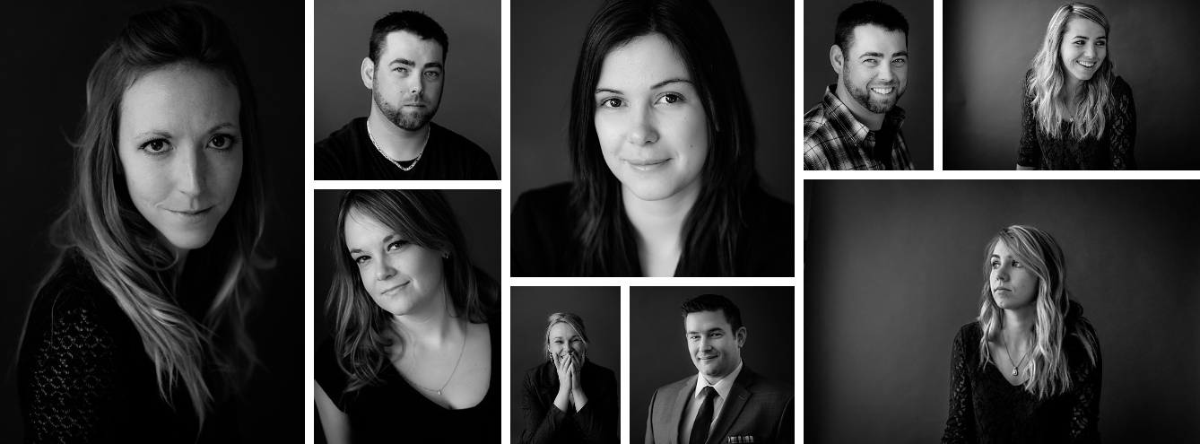 Black and white head shots - 4 Tips for Helping People Feel Comfortable During Their Portrait Session