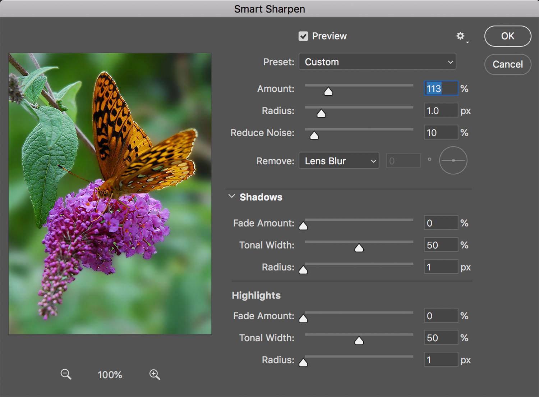 Tack Sharp photos - Smart Sharpen