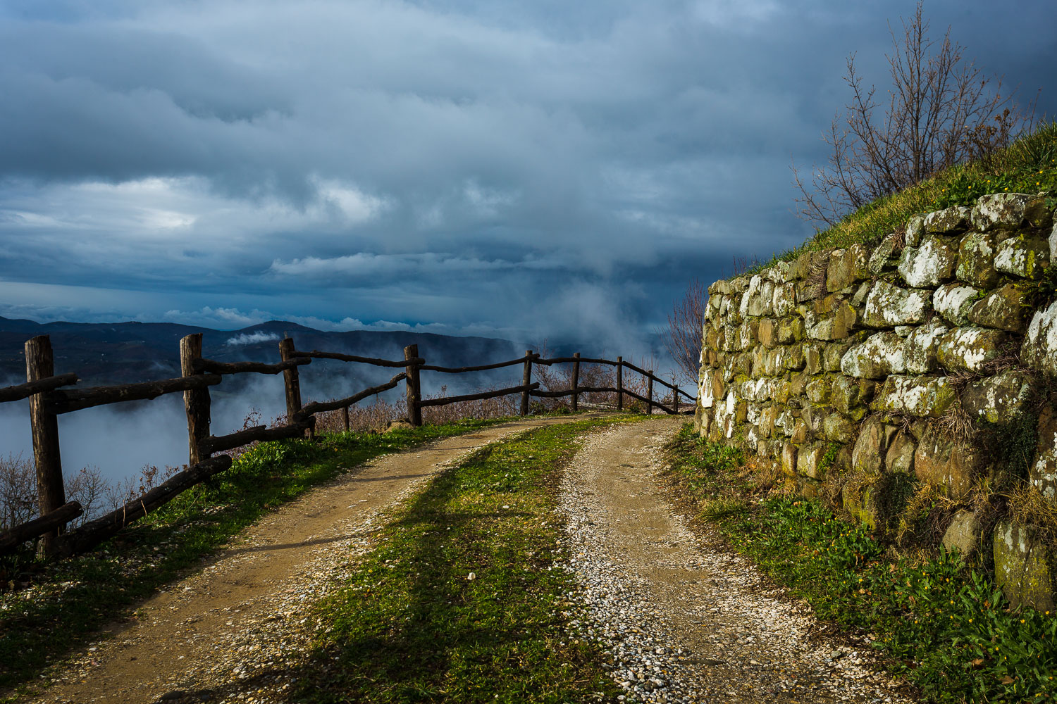 rural path and stone wall - How to Break the World Down into Elements to Create Better Photos