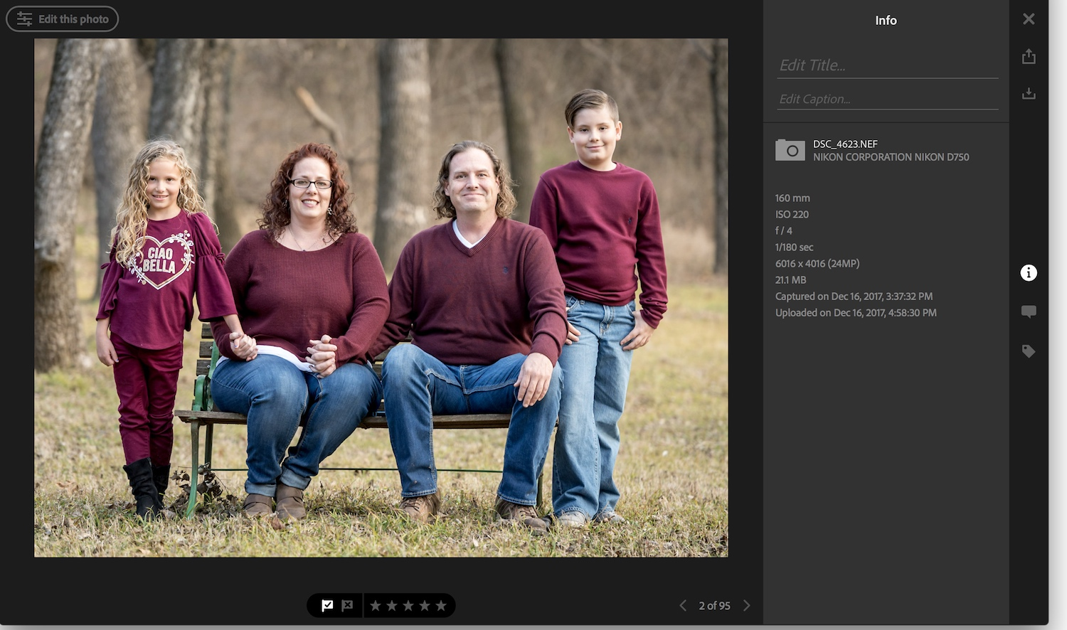 family photo in Lightroom - Five Reasons Why I Switched to Adobe Creative Cloud