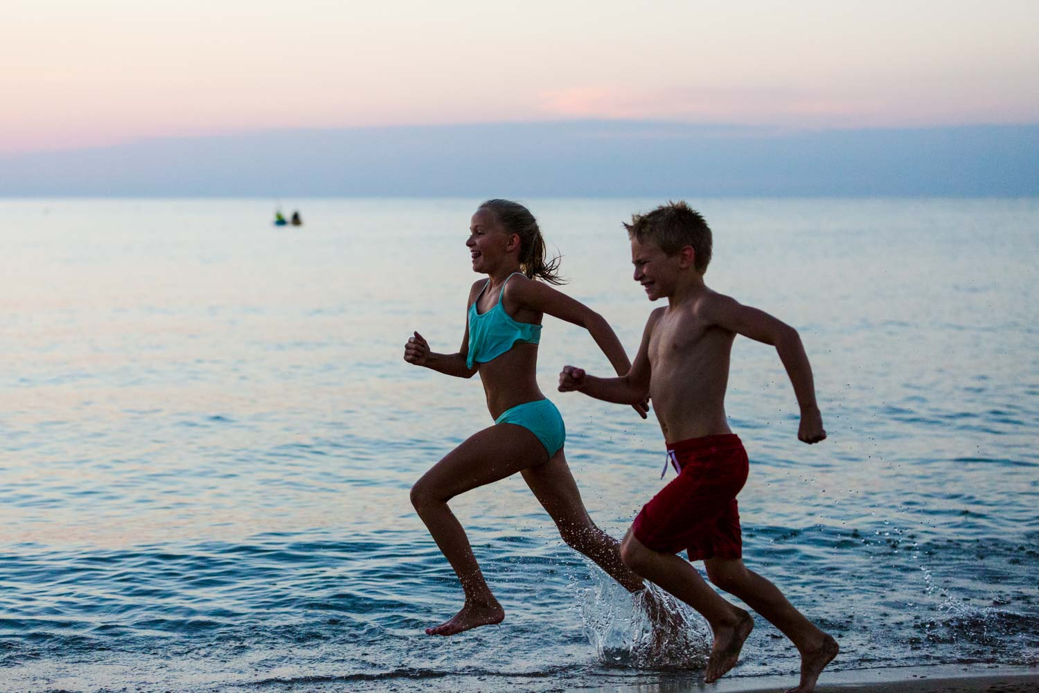 kids running in the water - Tips for Preparing for a Portrait Session