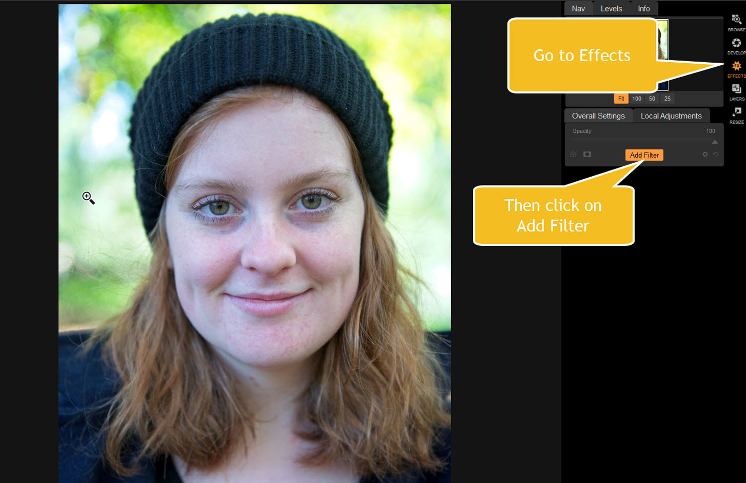 Tips for Portrait Processing with ON1 Photo RAW 2018 - Effects Add Filter