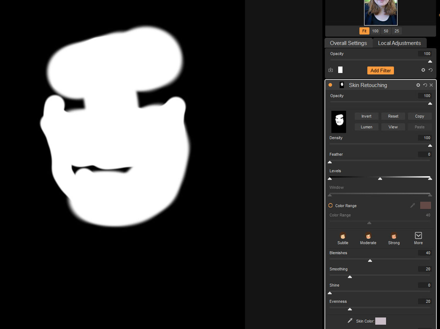 Tips for Portrait Processing with ON1 Photo RAW 2018 - mask